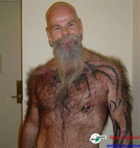 волосатость на теле мужчины